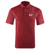 Nike Dri Fit Cardinal Embossed Polo-One Color Greek Letters