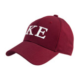 Cardinal Heavyweight Twill Pro Style Hat-One Color Greek Letters
