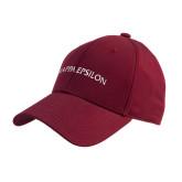 Cardinal Heavyweight Twill Pro Style Hat-Arched Kappa Epsilon