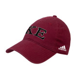 Adidas Cardinal Slouch Unstructured Low Profile Hat-Two Color Greek Letters
