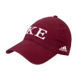 Adidas Cardinal Slouch Unstructured Low Profile Hat-One Color Greek Letters