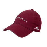 Adidas Cardinal Slouch Unstructured Low Profile Hat-Arched Kappa Epsilon