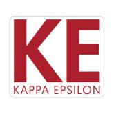 Medium Magnet-KE Kappa Epsilon Stacked, 8in Tall