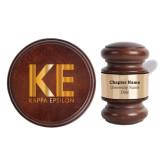 Personalized Gavel & Sound Block Set-KE Kappa Epsilon Stacked Engraved