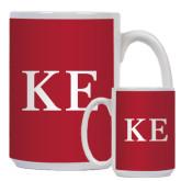 Full Color White Mug 15oz-One Color Greek Letters