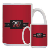 Full Color White Mug 15oz-100 Years Logo