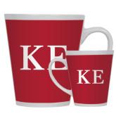 Full Color Latte Mug 12oz-One Color Greek Letters