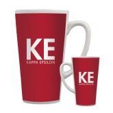 Full Color Latte Mug 17oz-KE Kappa Epsilon Stacked