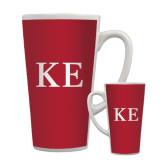 Full Color Latte Mug 17oz-One Color Greek Letters