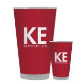 Full Color Glass 17oz-KE Kappa Epsilon Stacked
