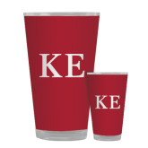 Full Color Glass 17oz-One Color Greek Letters