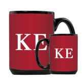 Full Color Black Mug 15oz-One Color Greek Letters