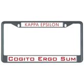 Metal License Plate Frame in Black-Kappa Epsilon