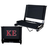Stadium Chair Black-Two Color Greek Letters