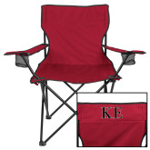Deluxe Cardinal Captains Chair-Two Color Greek Letters