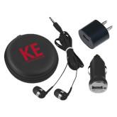 3 in 1 Black Audio Travel Kit-KE Kappa Epsilon Stacked