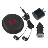 3 in 1 Black Audio Travel Kit-One Color Greek Letters
