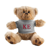 Plush Big Paw 8 1/2 inch Brown Bear w/Grey Shirt-Two Color Greek Letters