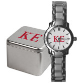 Mens Stainless Steel Fashion Watch-One Color Greek Letters