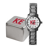 Ladies Stainless Steel Fashion Watch-KE Kappa Epsilon Stacked