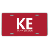 License Plate-KE Kappa Epsilon Stacked