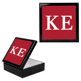 Ebony Black Accessory Box With 6 x 6 Tile-One Color Greek Letters