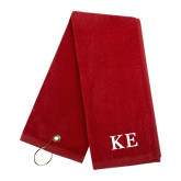 Red Golf Towel-One Color Greek Letters