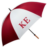 62 Inch Cardinal/White Umbrella-One Color Greek Letters