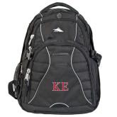 High Sierra Swerve Black Compu Backpack-Two Color Greek Letters
