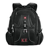 Wenger Swiss Army Mega Black Compu Backpack-Two Color Greek Letters
