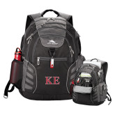 High Sierra Big Wig Black Compu Backpack-Two Color Greek Letters