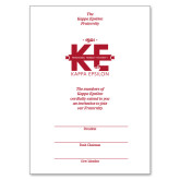 Bid Card 7 x 5 w/Logo Envelope-