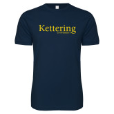 Next Level SoftStyle Navy T Shirt-Kettering University Word Mark