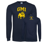 Navy Long Sleeve T Shirt-GMI