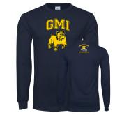 Navy Long Sleeve T Shirt-GMI