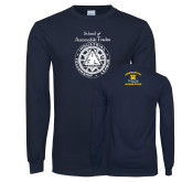 Navy Long Sleeve T Shirt-School of Automobile Trades