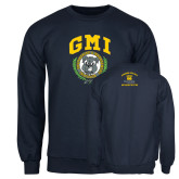 Navy Fleece Crew-Retro Gmiemi