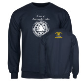 Navy Fleece Crew-School of Automobile Trades