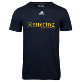 Adidas Climalite Navy Ultimate Performance Tee-Kettering University Word Mark