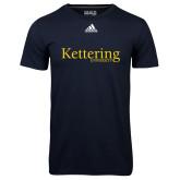 Adidas Climalite Navy Ultimate Performance Tee-Kettering University Word Mark