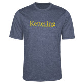 Performance Navy Heather Contender Tee-Kettering University Word Mark