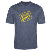 Performance Navy Heather Contender Tee-Kettering Built