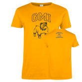 Ladies Gold T Shirt-GMI