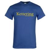 Royal T Shirt-Kettering University Word Mark
