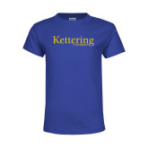 Youth Royal T Shirt-Kettering University Word Mark