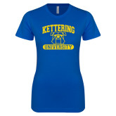 Next Level Ladies SoftStyle Junior Fitted Royal Tee-Arched Kettering University in Bar
