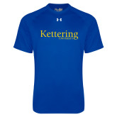 Under Armour Royal Tech Tee-Kettering University Word Mark