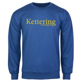 Royal Fleece Crew-Kettering University Word Mark
