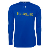 Under Armour Royal Long Sleeve Tech Tee-Kettering University Word Mark
