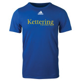 Adidas Royal Logo T Shirt-Kettering University Word Mark